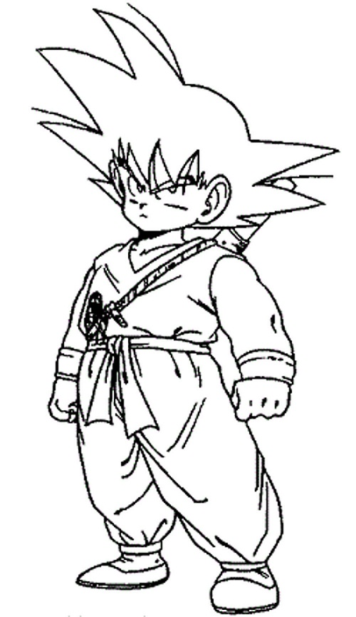 Kid Goku Coloring Pages Coloring