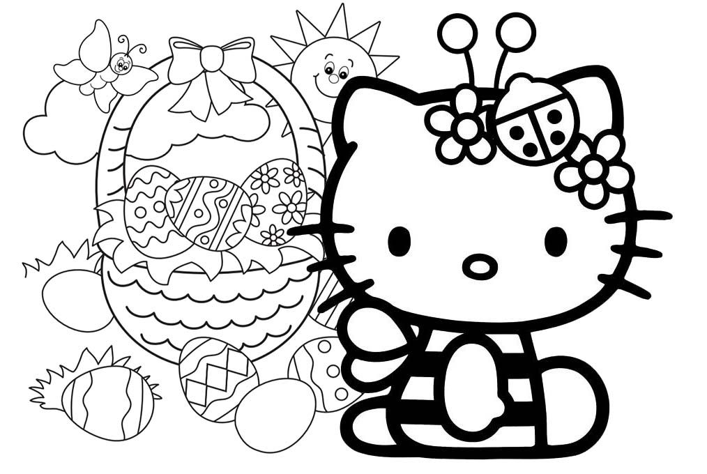 Hello Kitty Easter Coloring Pages (17 Pictures) - Colorine.net | 10758