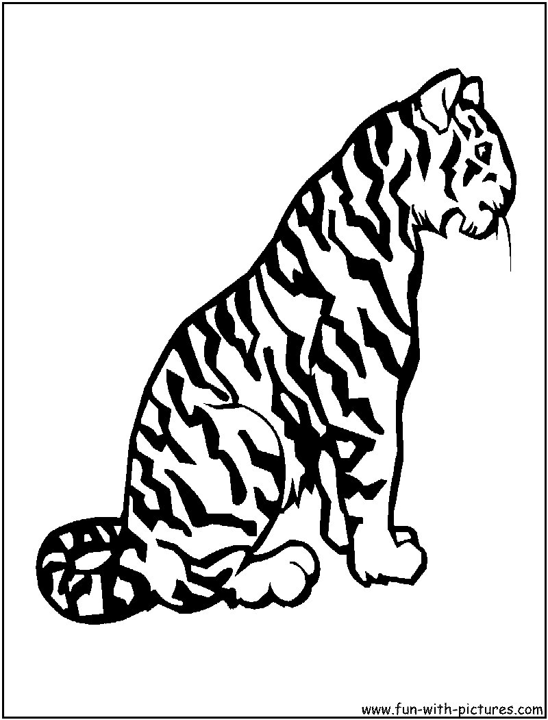lisa frank coloring pages tiger - photo#23