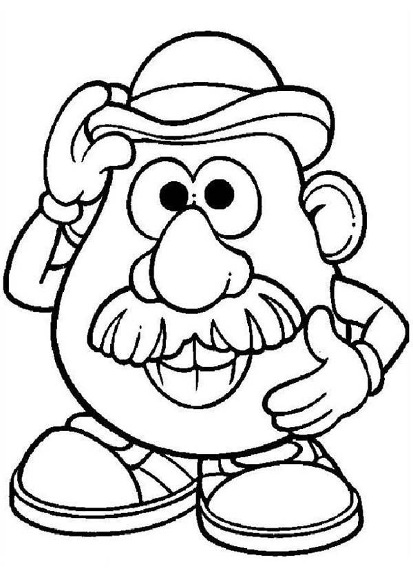 Mr Potato Head Coloring Page Coloring Home Mr Potato Coloring Pages