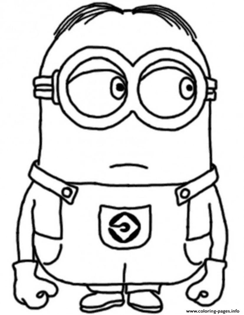 Print dave the minion despicable me s17c96 Coloring pages