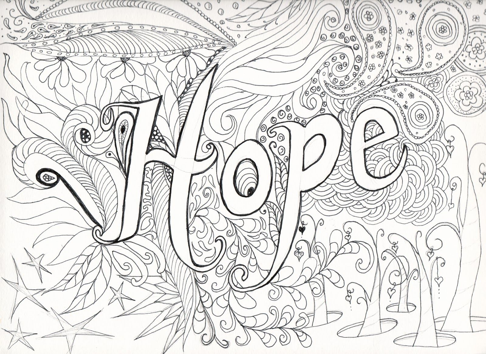 complicated coloring pages flowers - photo#43