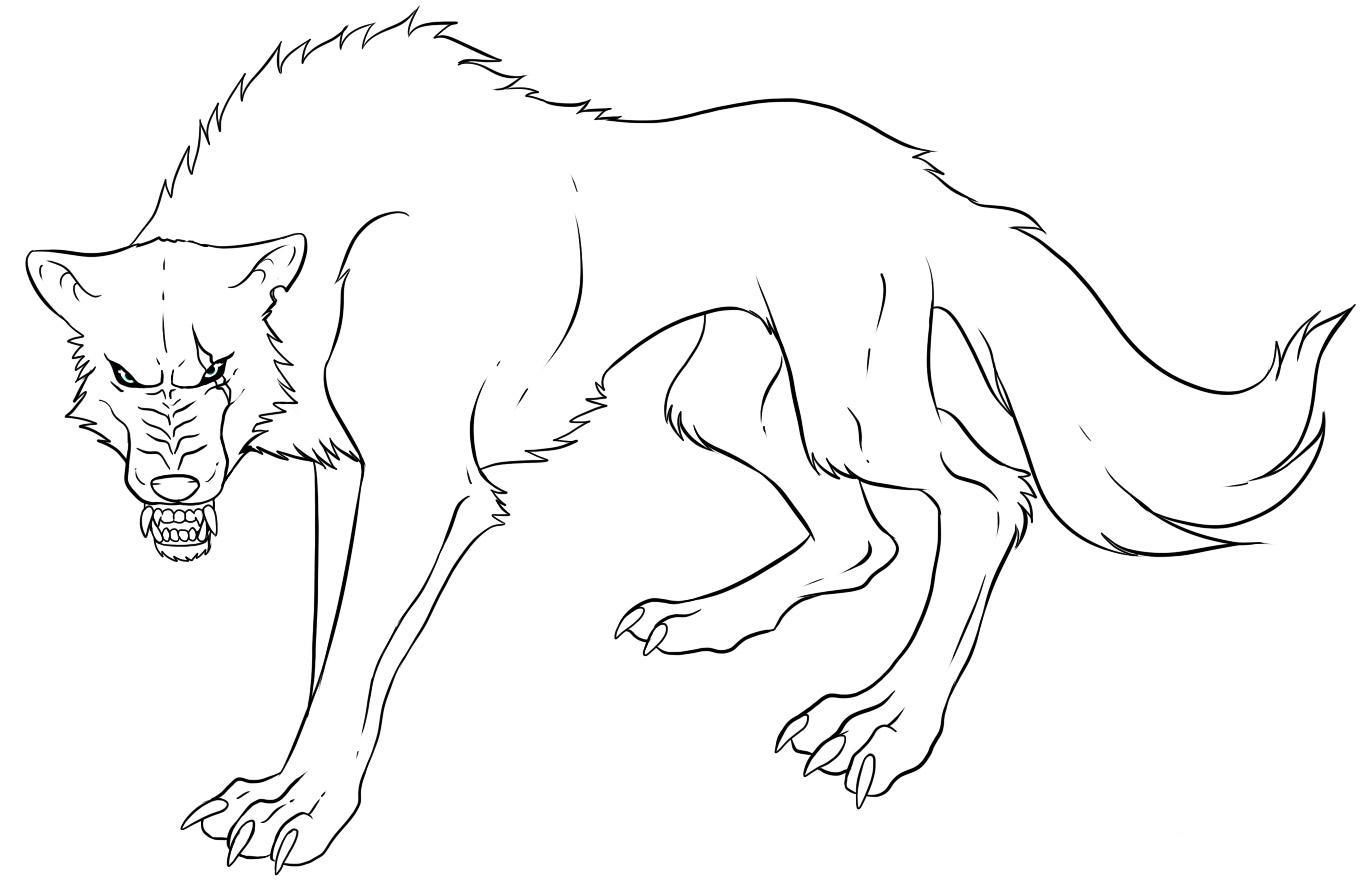 Realistic Wolf Coloring Pages To Print | Animal Coloring ...