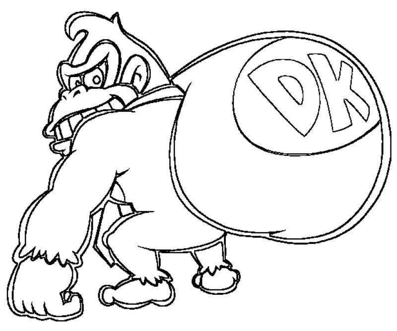 7 Pics Of Donkey Kong Coloring Pages - Donkey Kong Coloring Pages ...