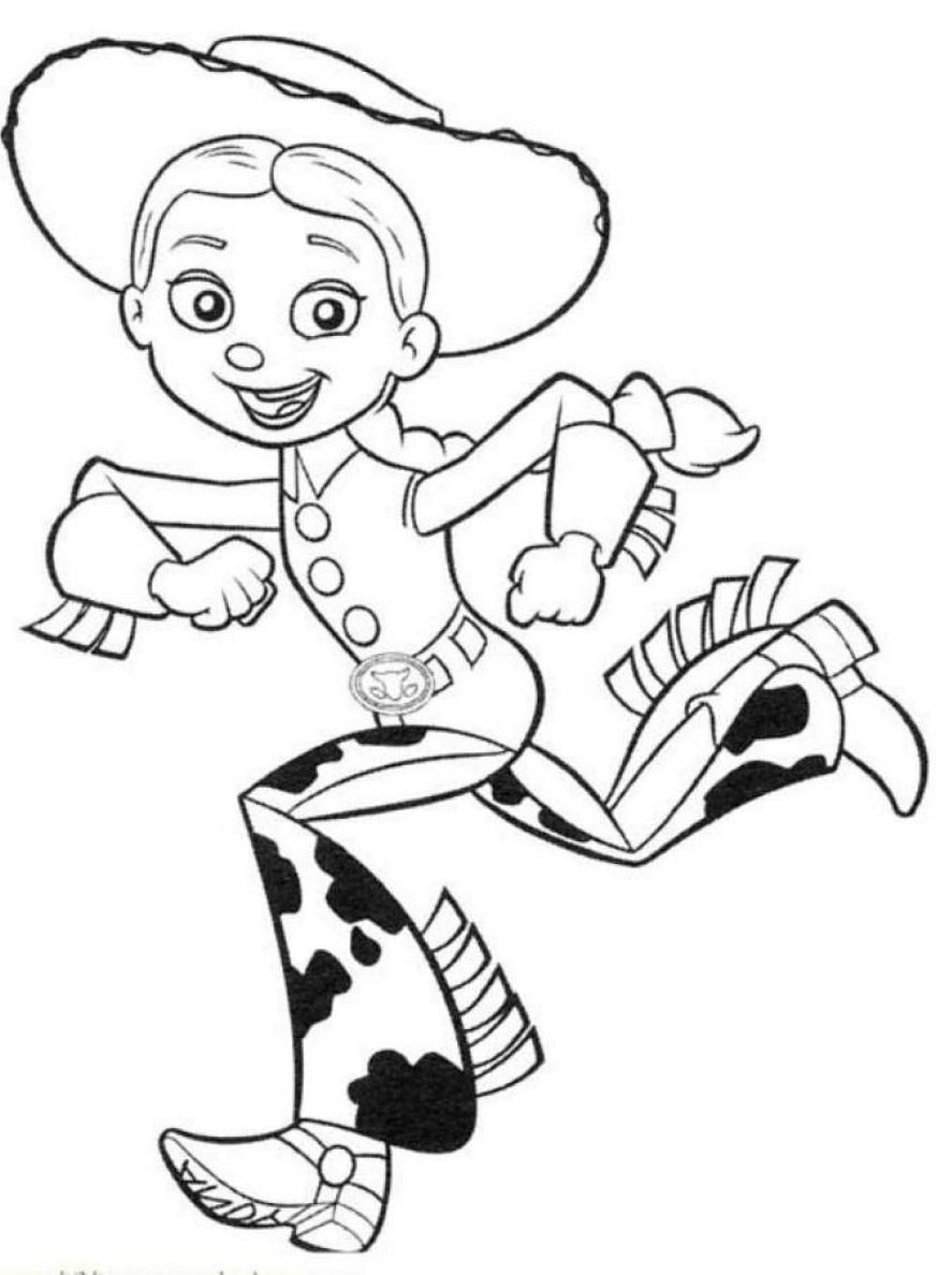 toy story jessie coloring pages coloring home