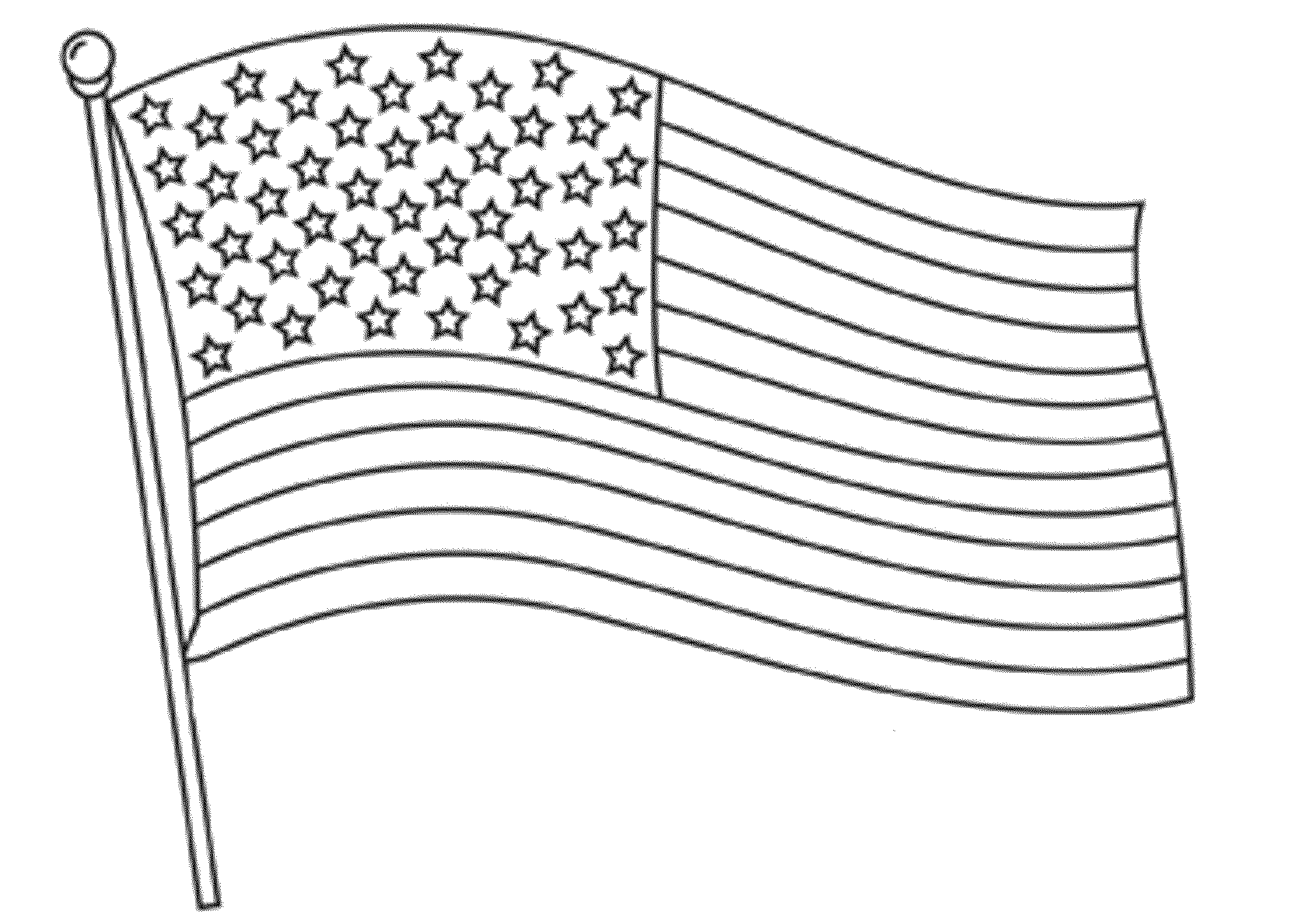 free coloring pages american flags-#3