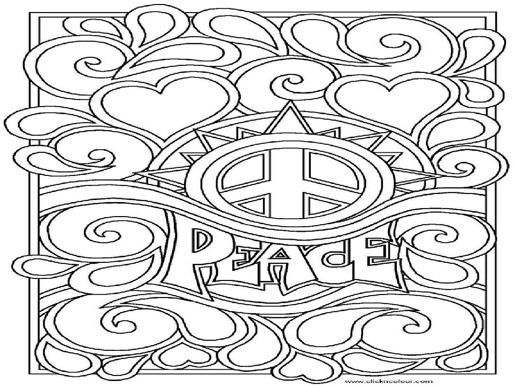 peace coloring pages to print - photo#14