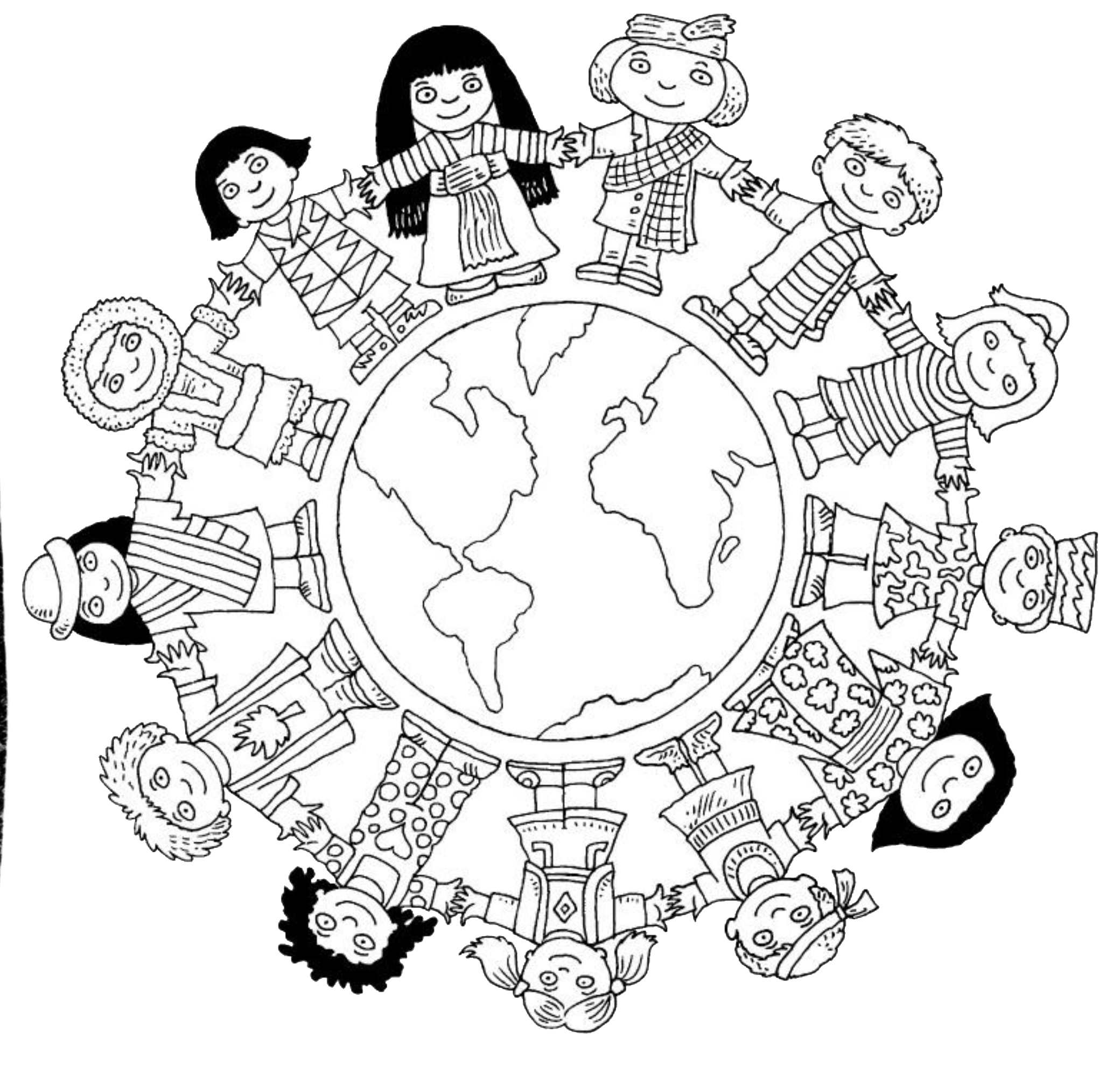 Coloring Page Popular Children Around The World Pages