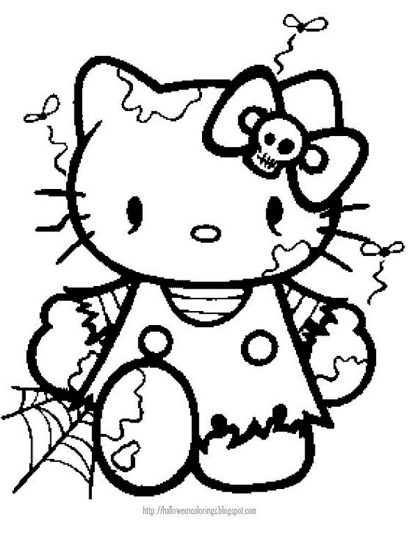 Hello Kitty Coloring Pages Pdf : Hello kitty halloween coloring page az pages