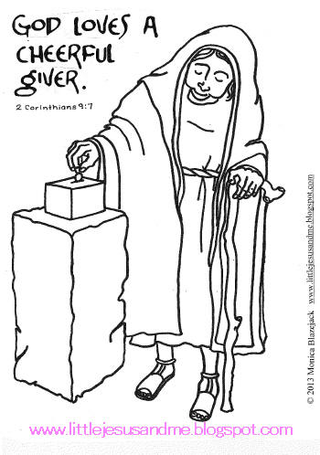 God Loves A Cheerful Giver Coloring Page Coloring Home