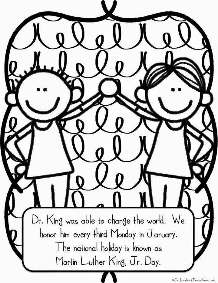 Martin Luther King Jr Free Coloring Sheets - The Largest and Most ...