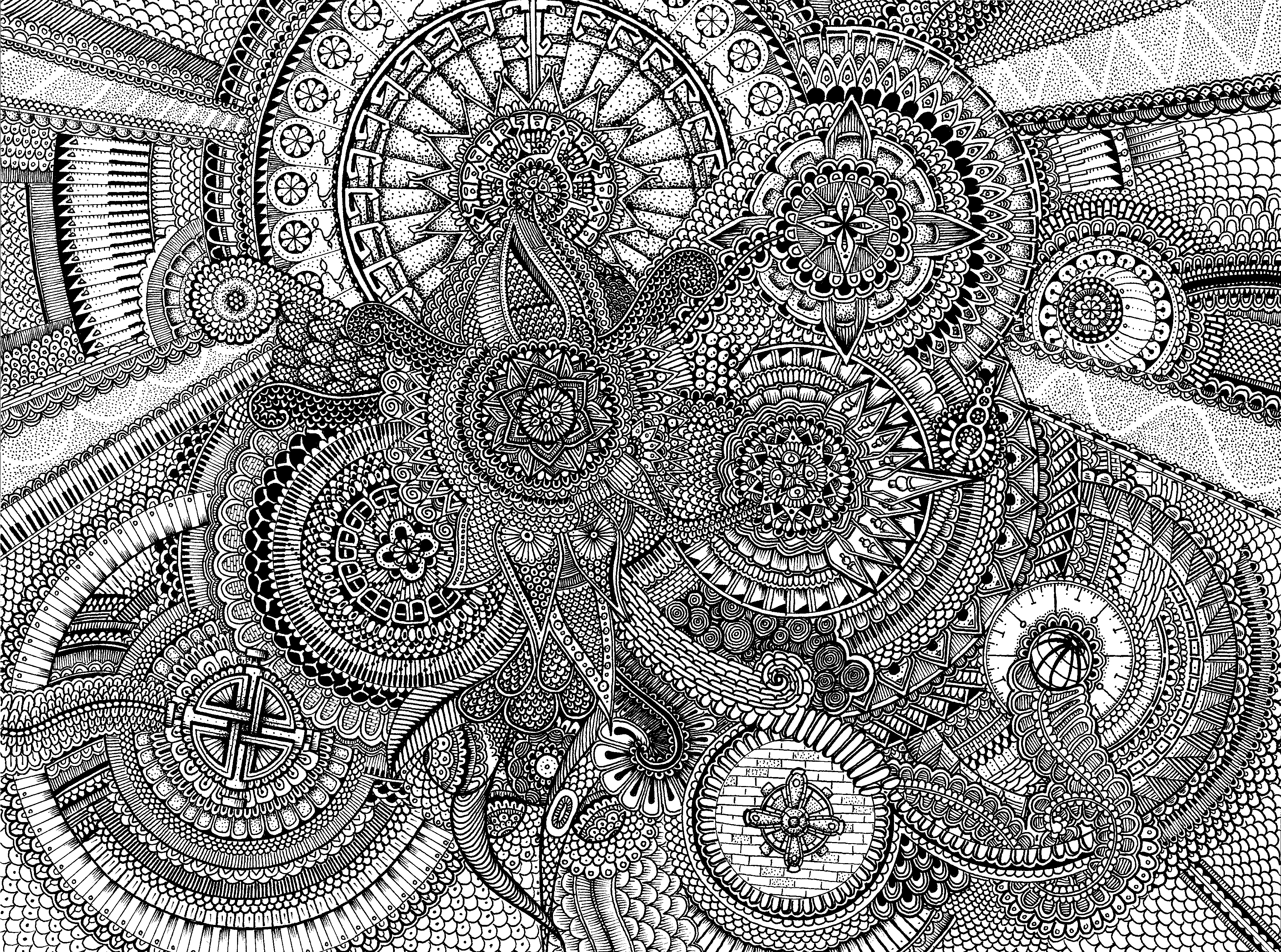 advanced mandala coloring pages for kids and for adults