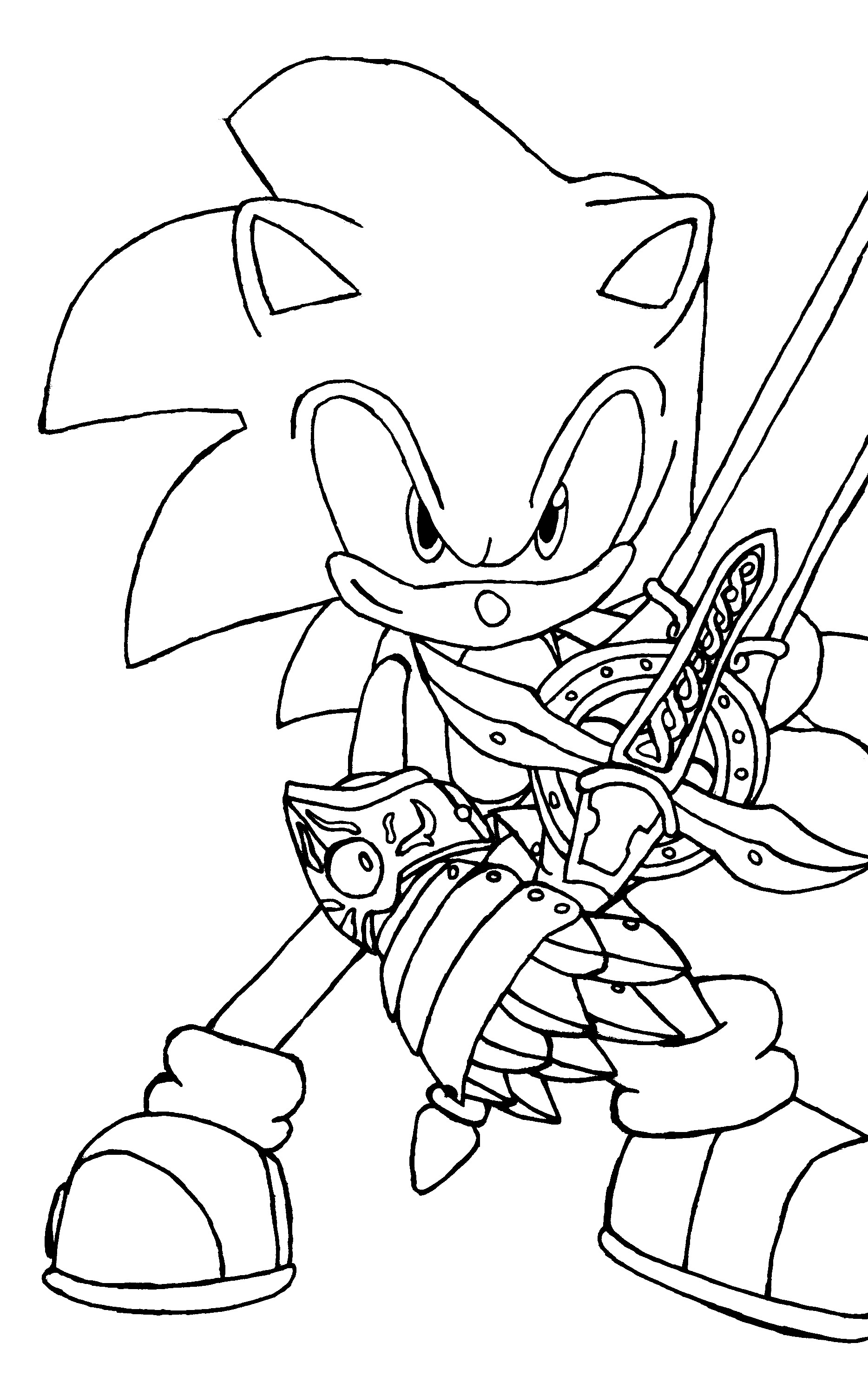 Shadow The Hedgehog Coloring Page Coloring Home