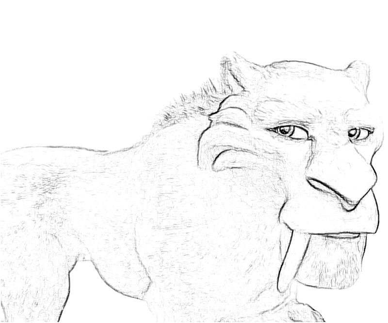 diego ice age coloring pages - photo#30