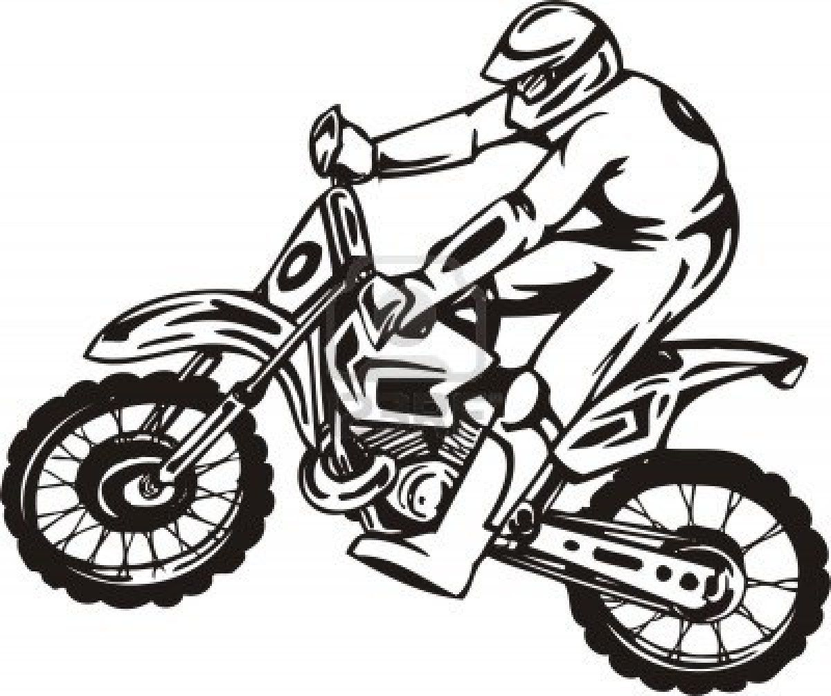 Motorcycles Dirtbike Coloring Pages Sports