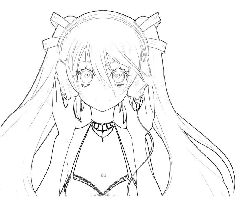 hatsune miku coloring pages - photo #4
