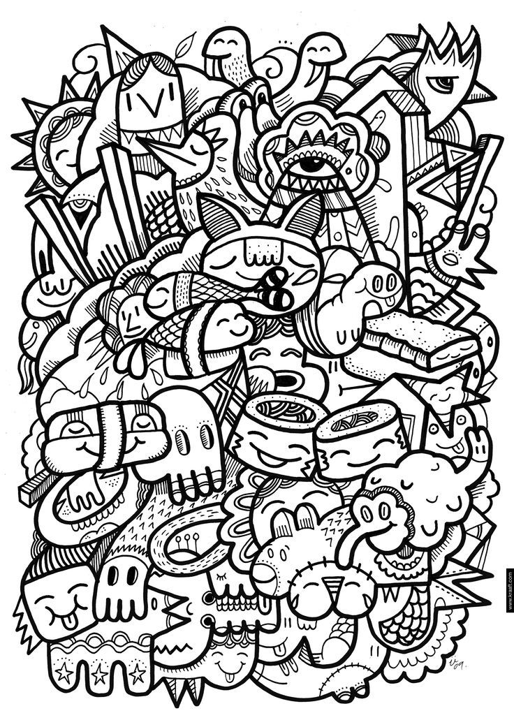 crazy creatures coloring pages - photo#11