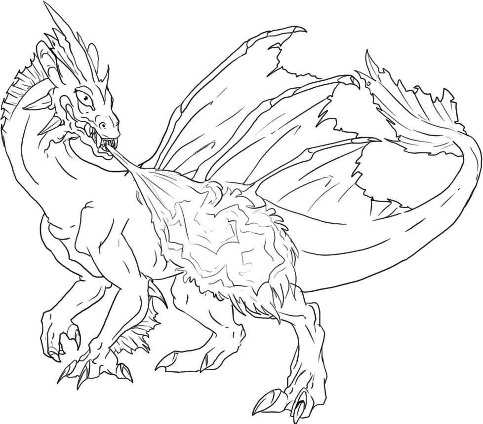 Fire dragon coloring pages coloring home for Fire coloring page