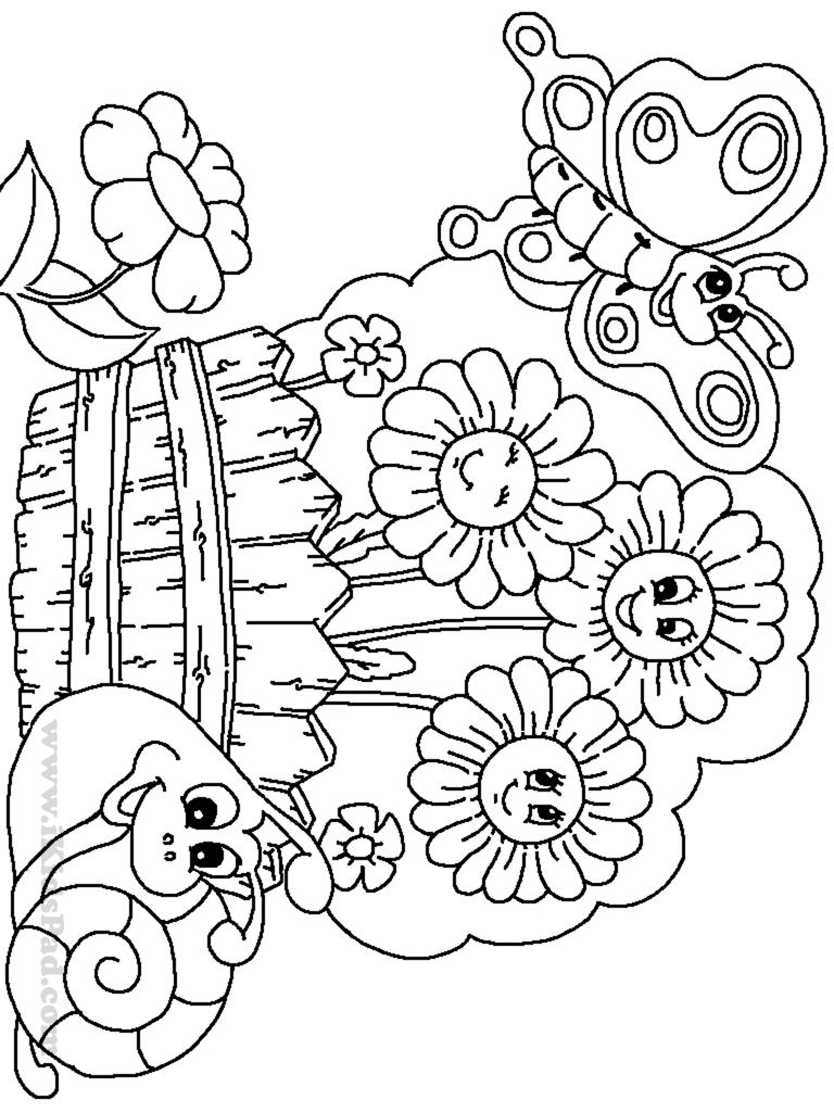 Coloring pages garden - Coloring Pages Of Flowers And Gardens Coloring