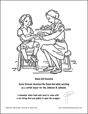 Band Aid Chicken Coloring Sheet