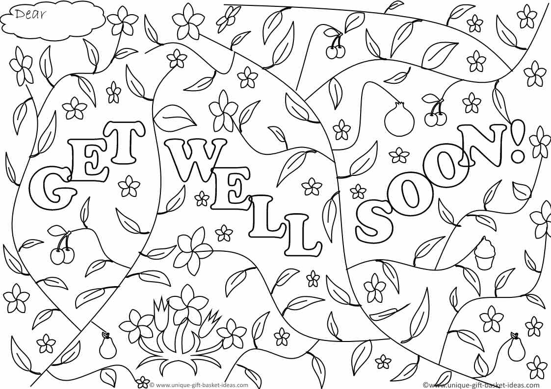 Get well soon printable coloring pages free coloring pages