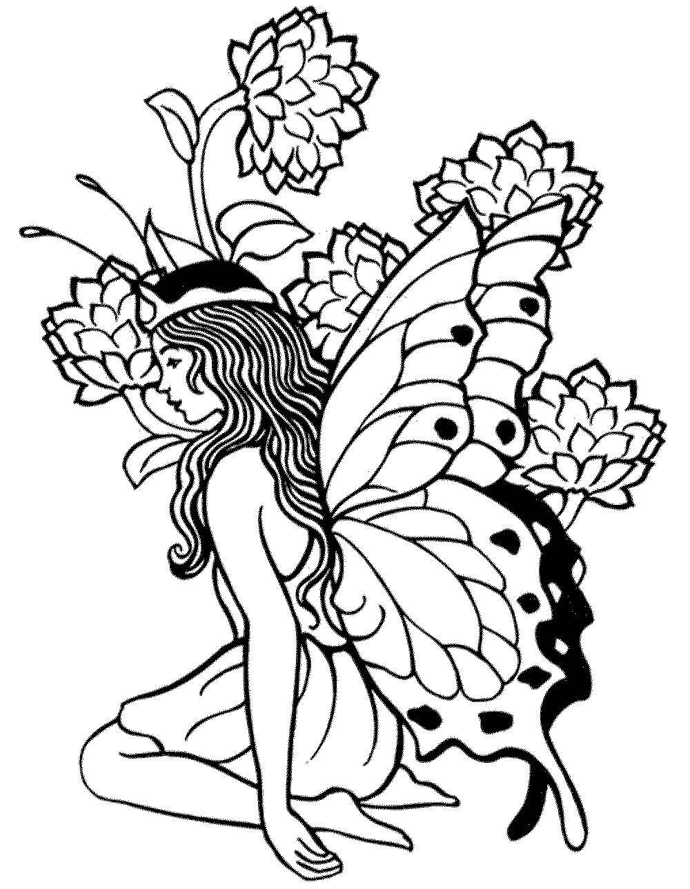 image regarding Printable Fairies Coloring Pages named Printable Grownup Coloring Web pages Fairy - Coloring Household