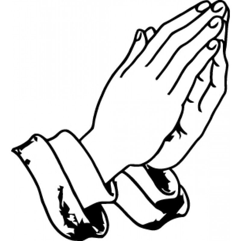 Free Coloring Page Images Of Praying Hands With Flowers ...