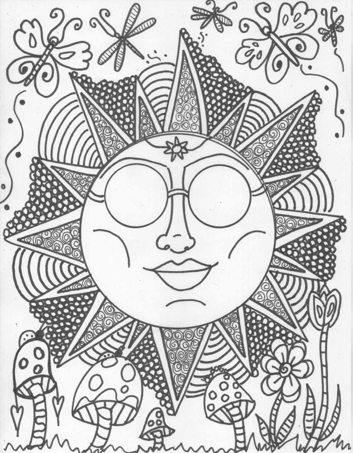 Cartoon Hippie Coloring Pages - Coloring Pages For All Ages