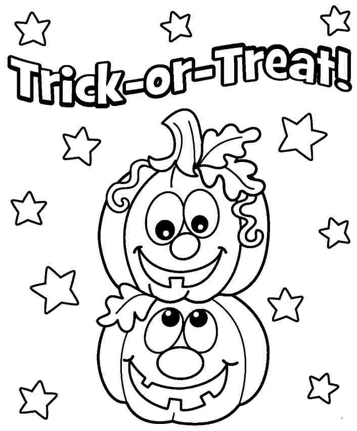 Halloween Coloring Pages Preschoolers