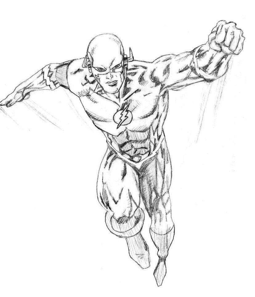 The Flash - Coloring Pages for Kids and for Adults