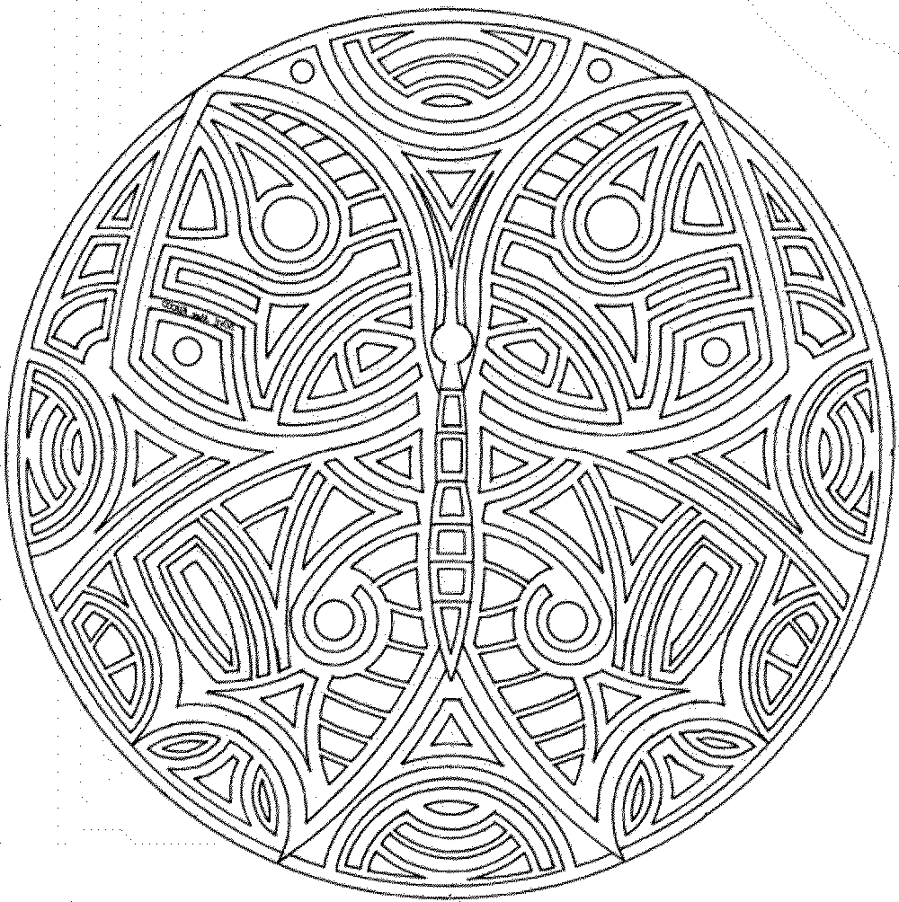 intricate mandala coloring pages - photo#28