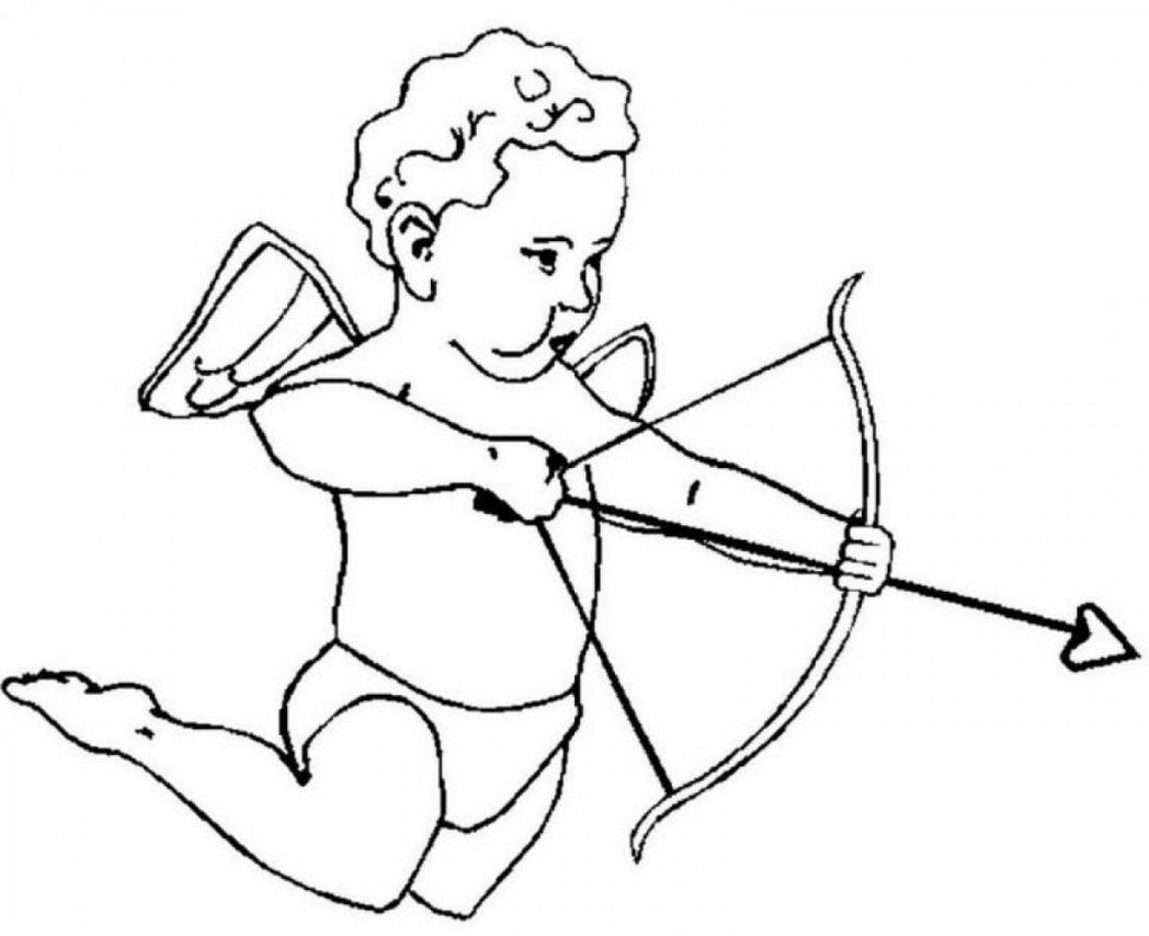 cupid coloring pages free - photo#25