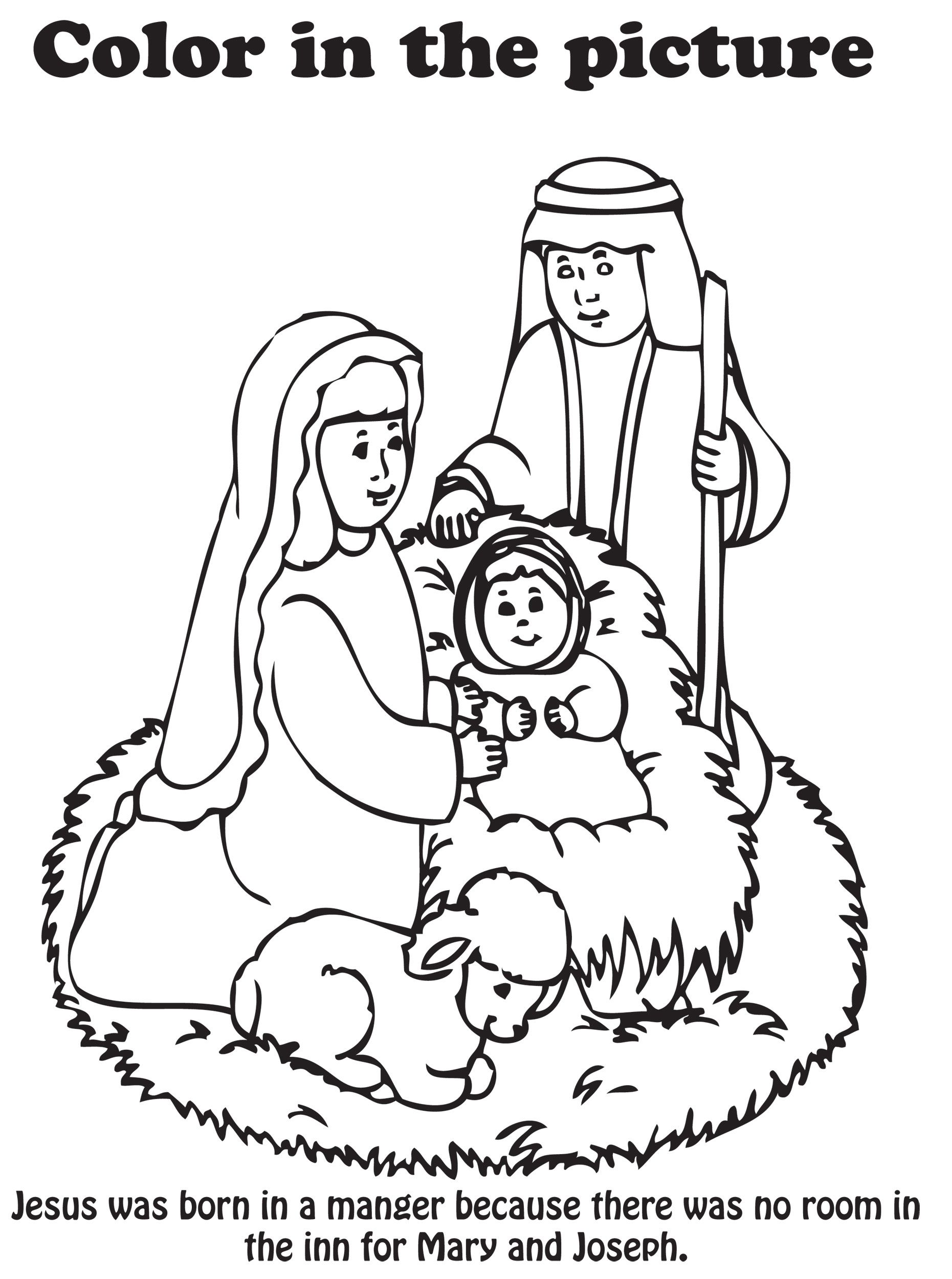 Nativity Colouring Book - High Quality Coloring Pages - Coloring Home