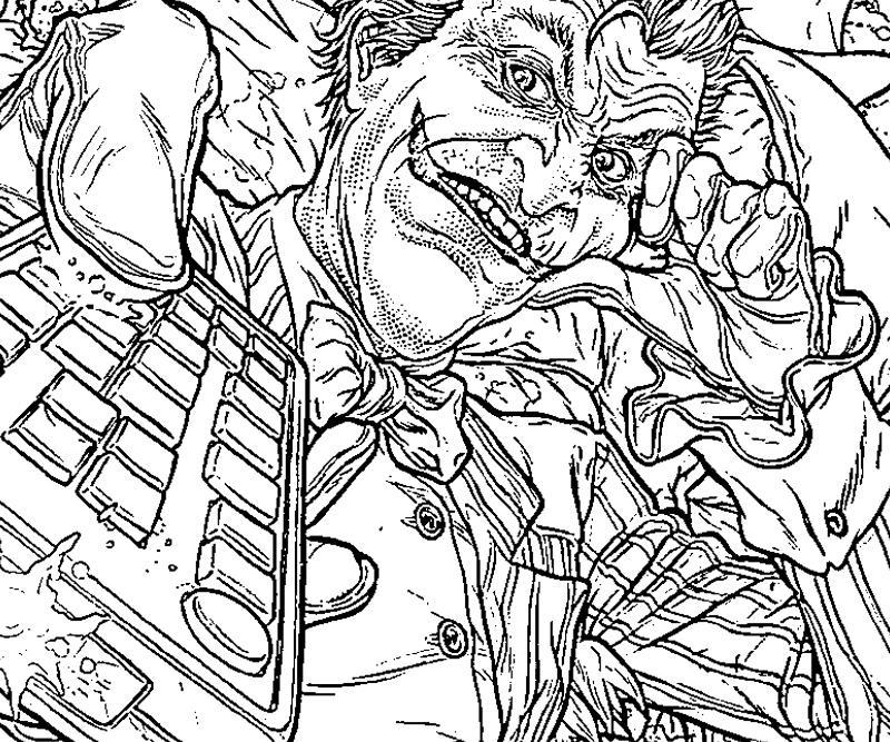 17 Pics Of Joker Arkham Asylum Coloring Pages Batman