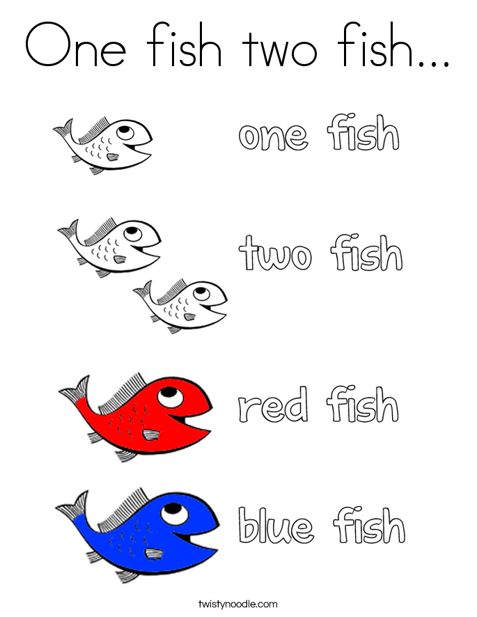 One Fish Two Fish Free Coloring Pages Coloring Home
