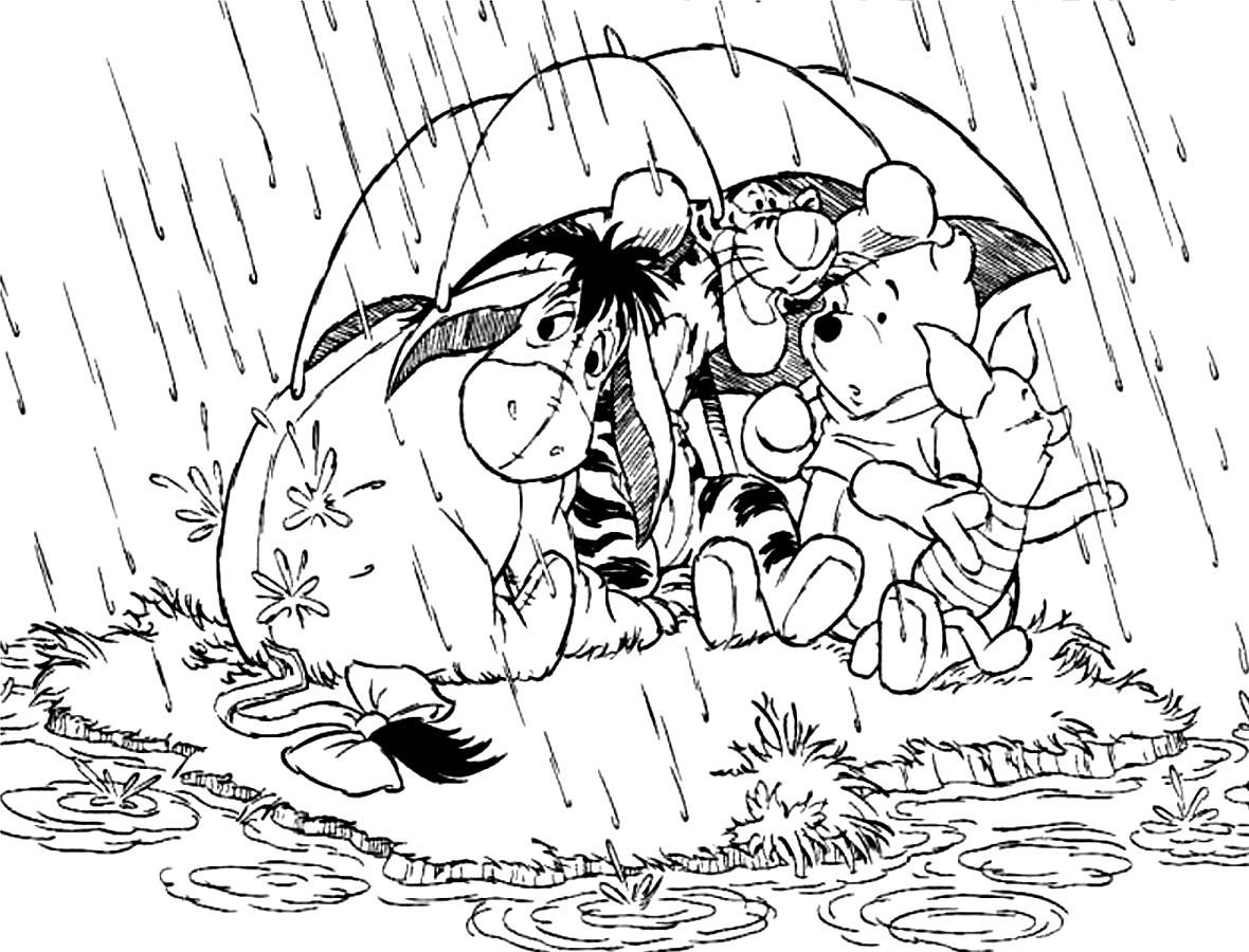 Colouring pages rain - Rainy Day Coloring Pages For Kids And For Adults