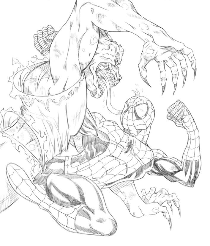 amazing spiez coloring pages | 12 Pics Of The Amazing Spider-Man Carnage Coloring Pages ...