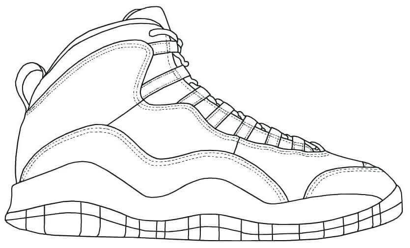 Nike Trainers Coloring Pages - Coloring Home
