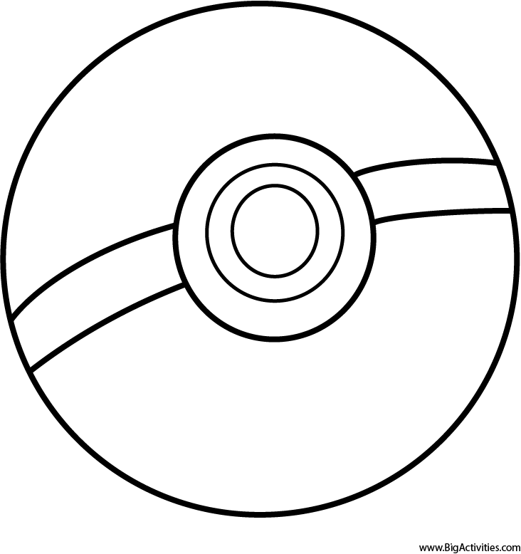 Pokeball Coloring Page Pokemon Coloring Home