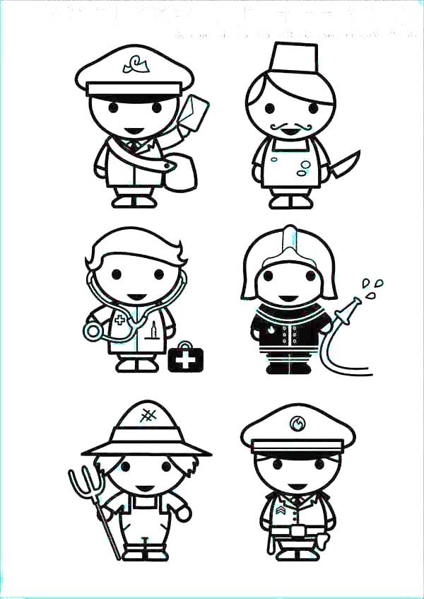 coloring pages of professions - photo#11