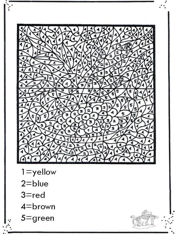 Free Printable Paint By Numbers For Adults – AZ Coloring Pages ...
