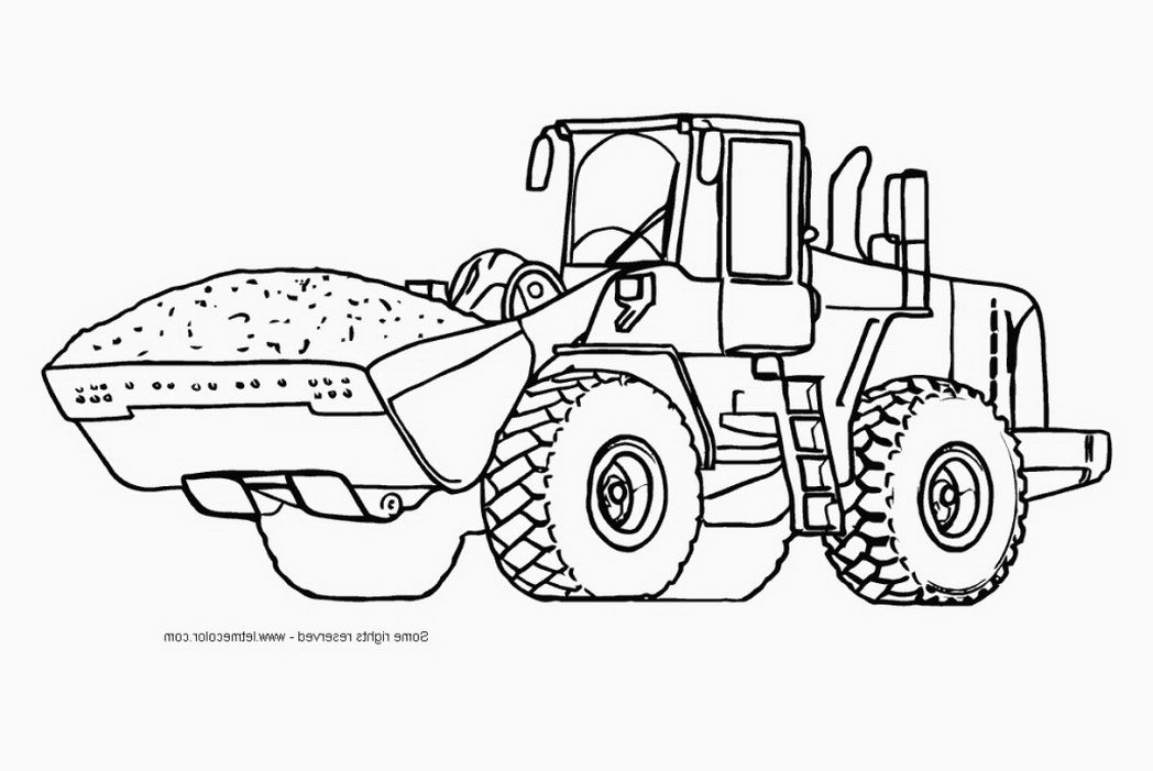 Equipment Hydraulic Excavator Coloring Page Printable Pages 487449
