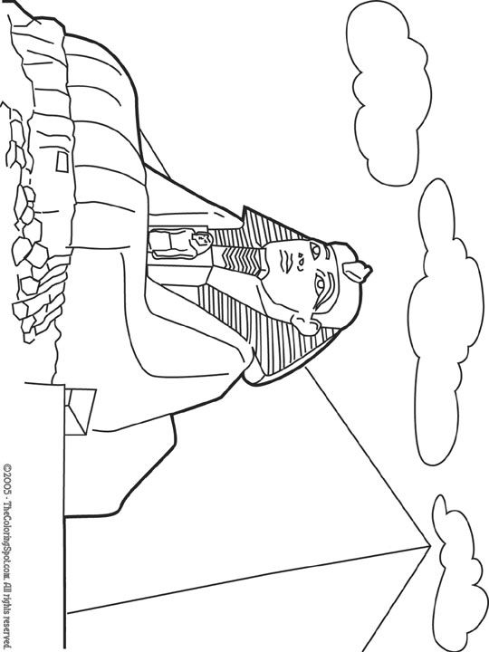 egyptian sphinx coloring pages - photo#18