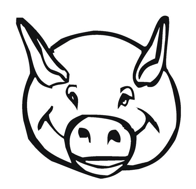 Pig Face Coloring Pig Face Coloring