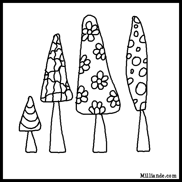 Adult Book Coloring Pages Trees,HOP OFF for Funky Tree Coloring ...