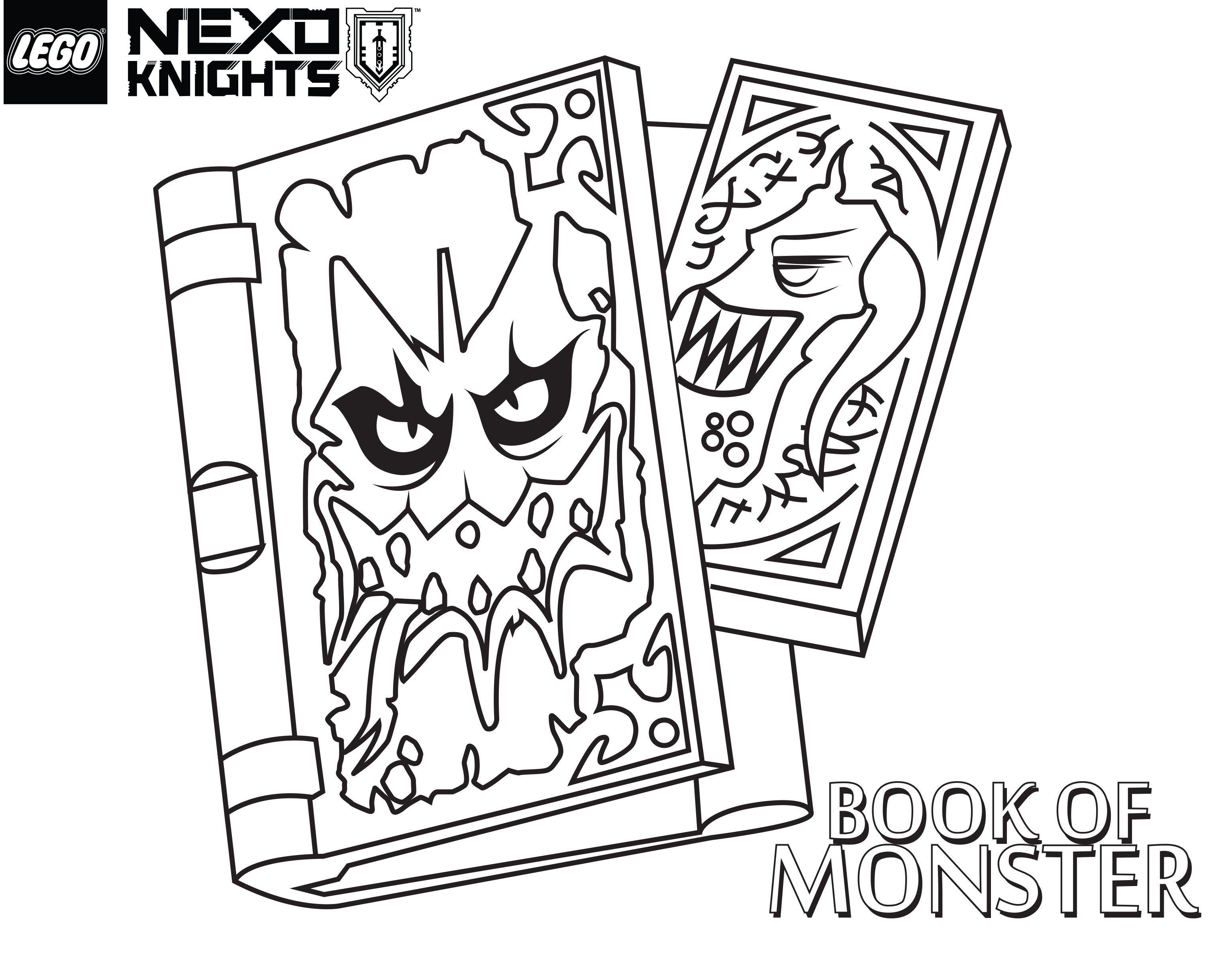 LEGO Nexo Knights Coloring Pages : Free Printable LEGO Nexo .