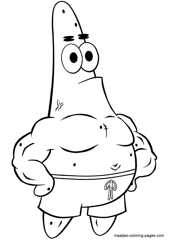 Patrick Star Coloring Pages Coloring Home