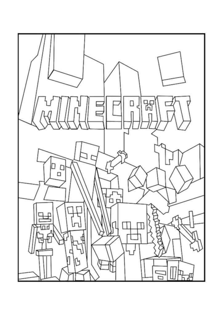 minecraft print out coloring pages - photo#23