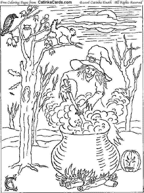 detailed halloween coloring pages - photo#10
