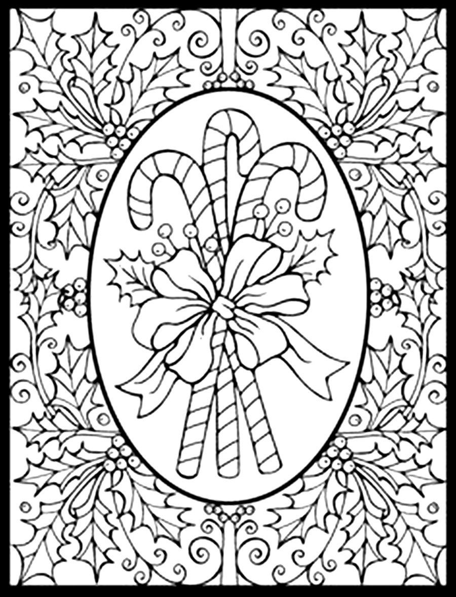 challenging christmas coloring pages printable - photo#7